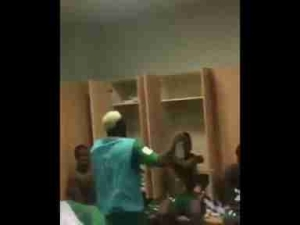 Super Eagles Players Pour Water On Mikel In The Dressing Room (Video, Pics)